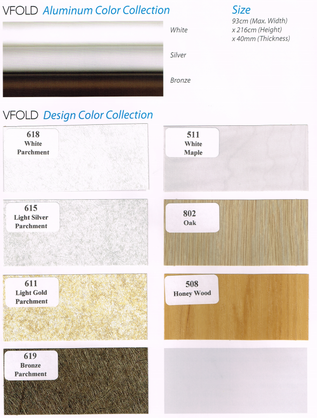 Aluminium Door Color Chart
