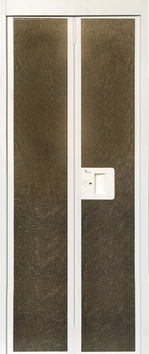 Brown Wood Bifold Bathroom Door